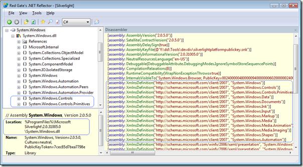 System.Windows.dll in reflector