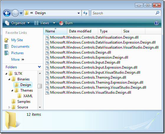 Silverlight Toolkit Design Dlls