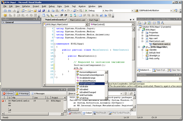 VS2008 Code Editor Intellisense