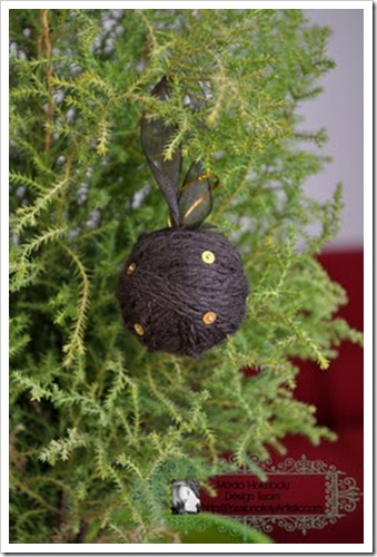brown gold globe on christmas tree