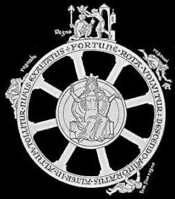 Rad der Fortuna schwarz/weiß
