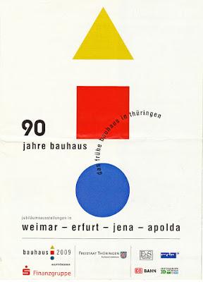 Faltblatt zur Bauhaus-Jubiläumsausstellung 2009 in Thürigen