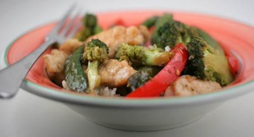 honey chicken stir fry 2