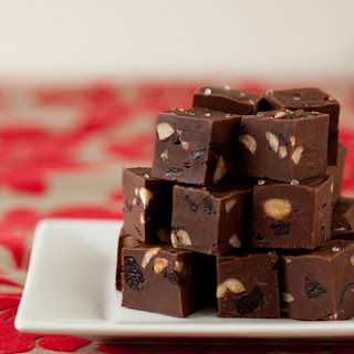 Nutella Cherry Hazelnut Fudge