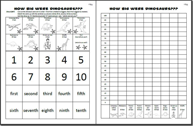 Printable Dinosaur MathScience Worksheets Adventures in MamaLand – Math in Science Worksheets