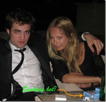 Erika Dutra and Robert Pattinson in Cannes