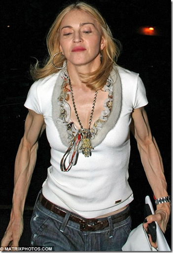 Madonna and her creepy arms
