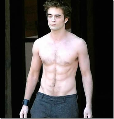 Robert Pattinson Shirtless New Moon Scene