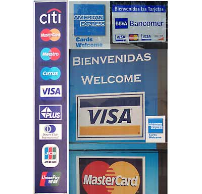 credit cards accepted in Baja California