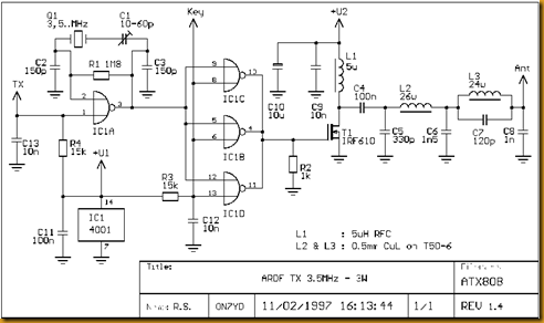 Amateur Radio Qrp Projects 3 5mhz Ardf Transmitter