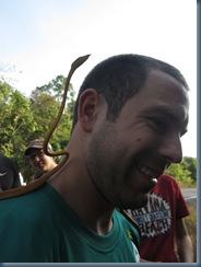 Khao Yai: Felix with the snake