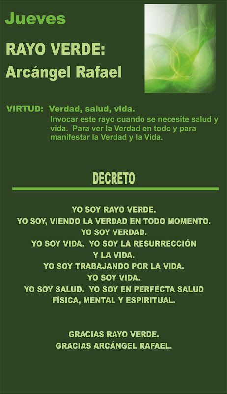 LOS 7 RAYOS: Rayo Verde JUEVES