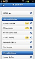 Screenshot of Fis-ski mobile & live timing
