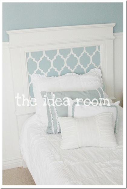 Stenciled Headboard Tutorial DIY