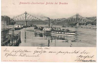 Loschwitzer Brücke mit Raddampfer