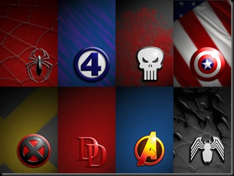 Marvel Symbol Collage