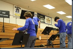 pep band set up 001