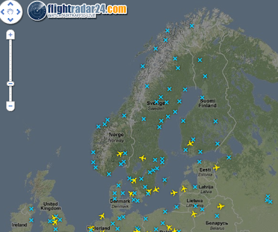 Watch Live Air Space Traffic Above Europe