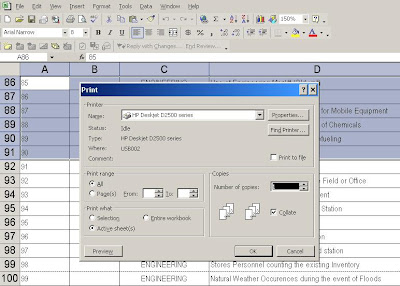 Print a Portion of a Worksheet in Excel