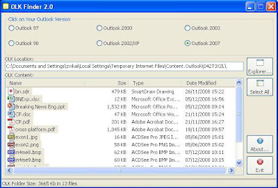 Recover Microsoft Outlook Attachment with OLK Finder