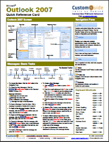 Microsoft Outlook 2007 cheat sheet