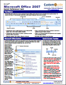 Microsoft Office 2007 Cheat Sheet