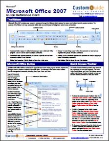 Microsoft Office 2007 Cheat Sheet