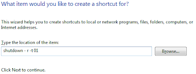 Create shortcut for Shutdown / Restart / Lock in Windows 7 or Vista