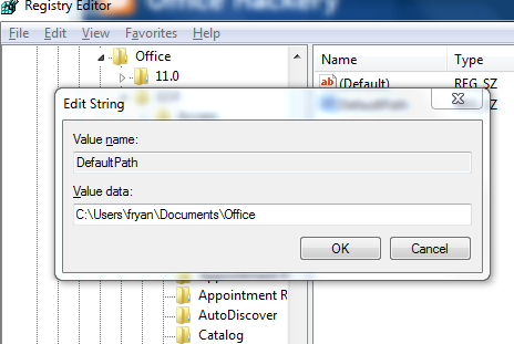 Change The Defaullt Folder To Save Outlook Messages And Attachments