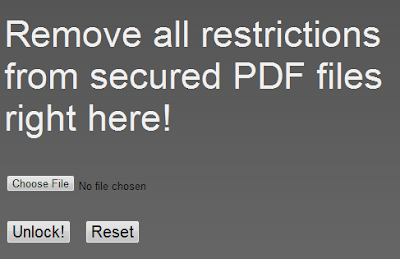 Unlock Locked PDF Files Online With PDFUnlock
