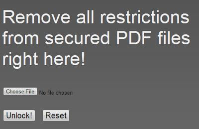 Unlock Locked PDF Files Online With PDFUnlock