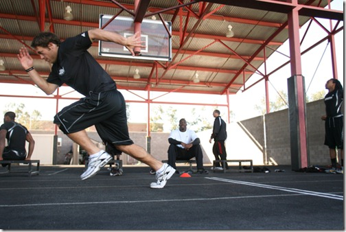 Georgia quarterback Matthew Stafford is preparing for the NFL combine and NFL Draft at Athletes Performance Institute in Tempe, AZ, on Feb. 3, 2009