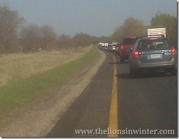 I-96 traffic jam.  Move it, people.