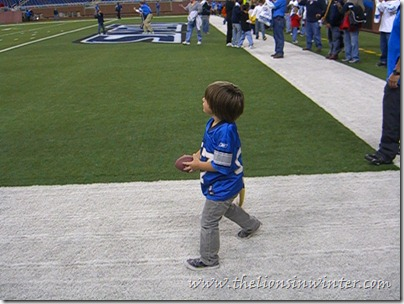 """Touchdown Fun Run"" at Ford Field."