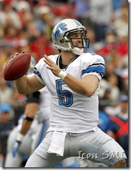 Drew Stanton of the Detroit Lions in action. Stanton was tendered with an RFA offer, as the Lions plan to keep him on the roster in 2011.