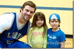 Drew Stanton of the Detroit Lions at the Lions vs. Lansing Firefighters charity basketball game.