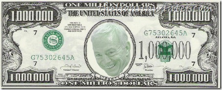 The Jerry Jones million-dollar bill. A thelionsinwinter.com joint.