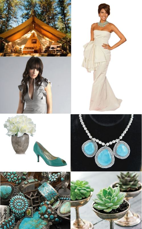 Southwestern Turquoise Wedding Inspiration Board