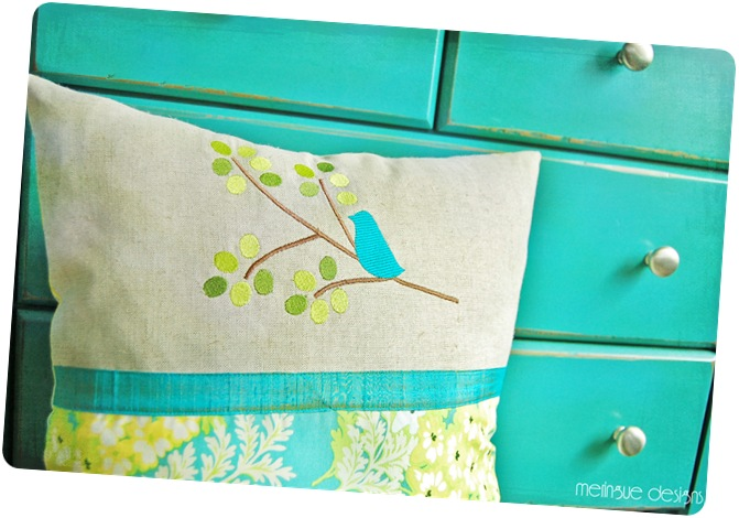 turquoise bird pillow copy