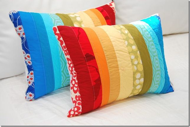 pillow rainbow