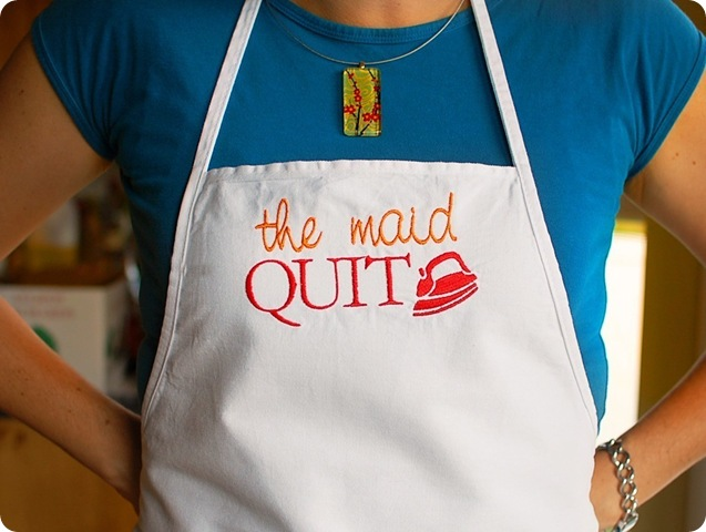 the maid quit