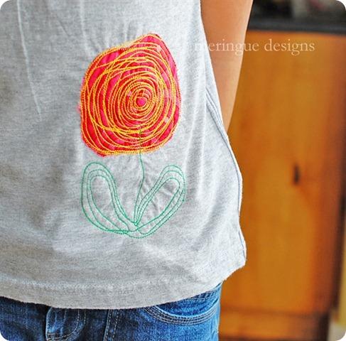 scribbled rose shirt