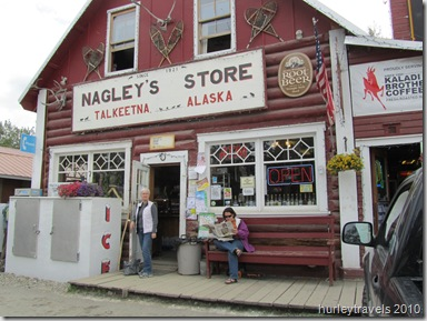 Nagley's General Store has been moved three times since 1917 but still operates, selling groceries and various items needed by visitors and locals.  There's a pub in the back of the store and a liquor store next door.