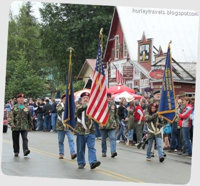 Talkeetna Color Guard, 4th of July parade.