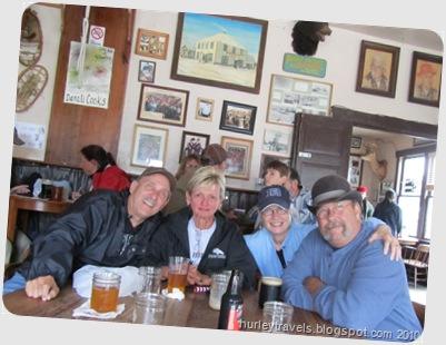 Don, Tonya, Nancy, Jerry enjoying the camaraderie at Fairview Inn, Talkeetna, AK