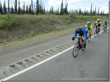 Competitors in the Fireweed 400 Race, on the Glenn Highway.