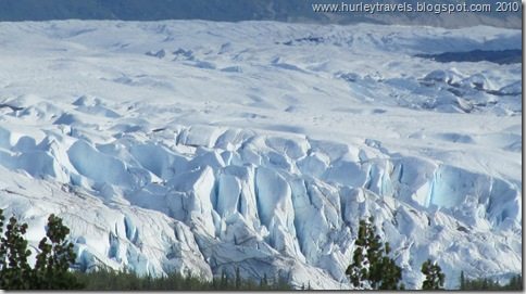 A closer view of the Matanuska Glacier.