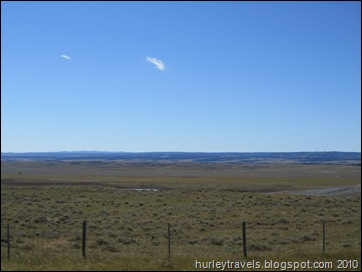 Miles and miles of the highway in MT and SD are wide open spaces.