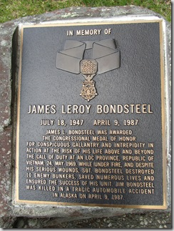 Tributes were included for Medal of Honor winners.