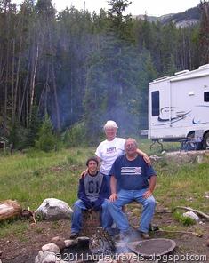 Campfire at our spot at Green River Lake, Wyoming